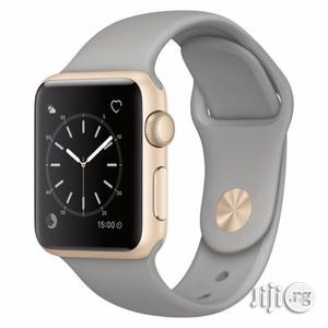 Apple Watch Series 1 - 38mm Gold Aluminum Case With Concrete Sport (BF | Smart Watches & Trackers for sale in Lagos State