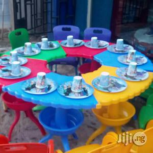Kids Wide Round Desk & Chairs Available For Purchase   Children's Furniture for sale in Lagos State, Ikeja