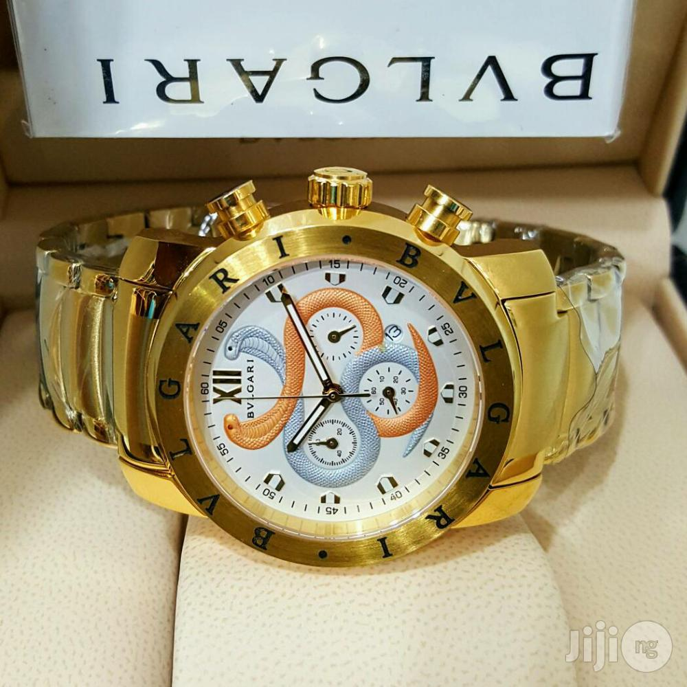BVLGARI Chronograph Men Wristwatch