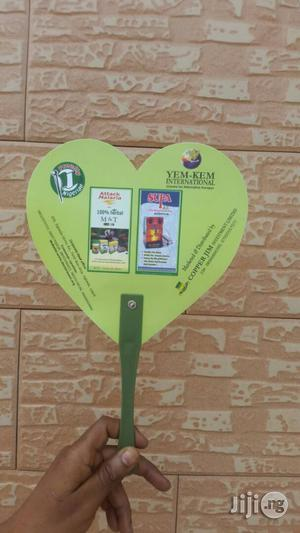 Customized Plastic Hand-fan For Promotion   Manufacturing Services for sale in Lagos State, Ikeja