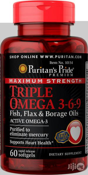 Triple Omega 3-6-9 Fish Oil for Healthy Heart, Eyes, Brain   Vitamins & Supplements for sale in Lagos State, Lekki
