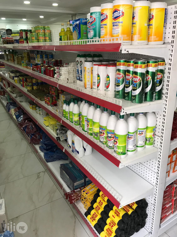 Supermarket Shelves Single And Double