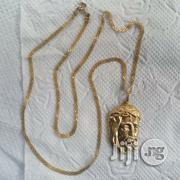 Solid 18kart Gold Carpet Design Wit Jesus Piece | Jewelry for sale in Lagos State, Lagos Island