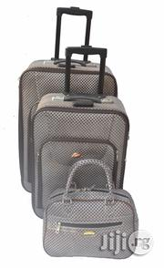 2 Set Grey Premium Leather Luggage   Bags for sale in Lagos State, Ikeja