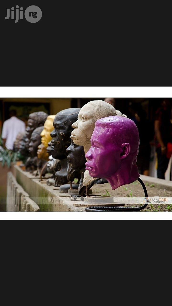 Sculpture, A Bust, Portrayal Of A Person's Head