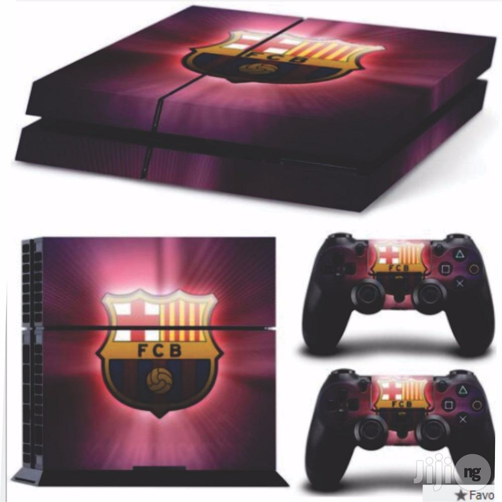 Cool Barcelona PVC Skin Sticker For PS4 Console & 2pcs Controller