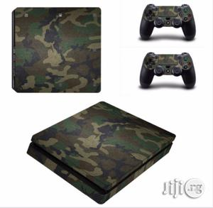 Camouflage Vinyl Skin Sticker For PS4 Slim Console + 2pcs Sticker | Accessories & Supplies for Electronics for sale in Lagos State, Ikeja