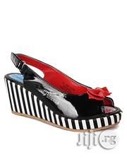 Girls' Monochrome Peep Toe Party Wedge -13/32, 1/33, 2/34, 3/35 | Children's Shoes for sale in Lagos State, Surulere