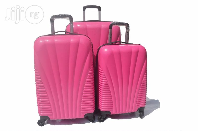 4 Wheel ABS Luggage (Pink)