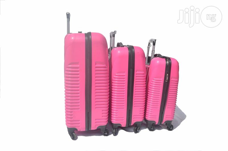 4 Wheel ABS Luggage (Pink) | Bags for sale in Ikeja, Lagos State, Nigeria