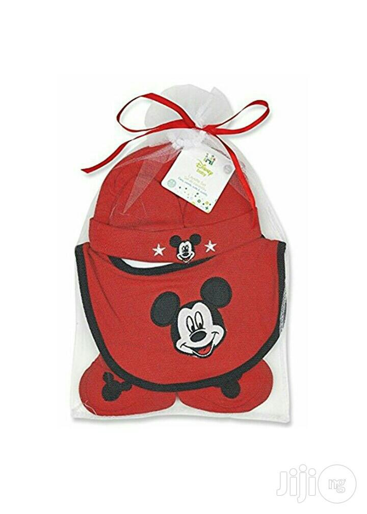 Mickey Mouse Hat,Bib Booties Set