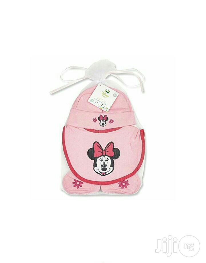 Minnie Mouse Hat,Bib Booties Set