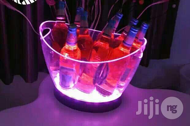 LED Light Champagne Bucket