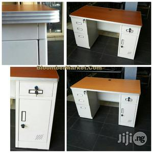Metal Office Table With Drawers Cupboard   Furniture for sale in Lagos State, Lekki