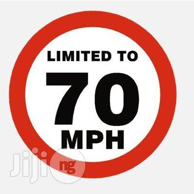 Aluminum Reflective Safety Maximum Speed Warning Sign