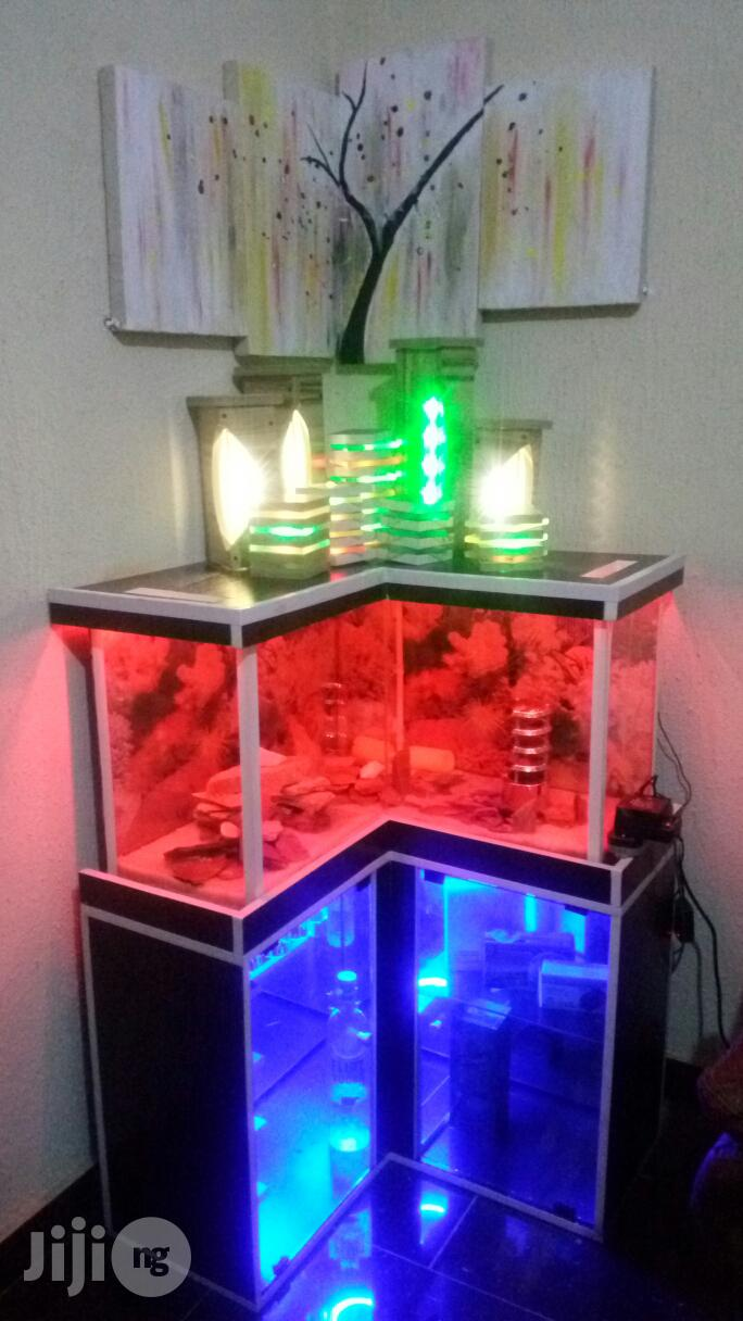 Aquarium With Wine Closet Brand New Functional | Fish for sale in Ojo, Lagos State, Nigeria