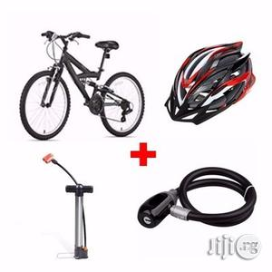 Adult Sports Bicycle + Helmet + Pump   Sports Equipment for sale in Lagos State, Surulere