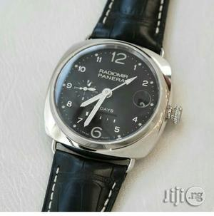 Panerai Chronograph Silver Leather Strap Watch   Watches for sale in Lagos State, Lagos Island (Eko)