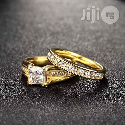 Archive: Cubic Zirconia Gold Plated Women Wedding Rings