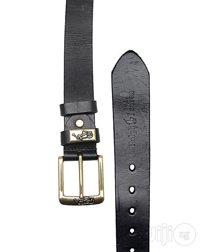 Archive: Polo by Ralph Lauren Black Leather Belts