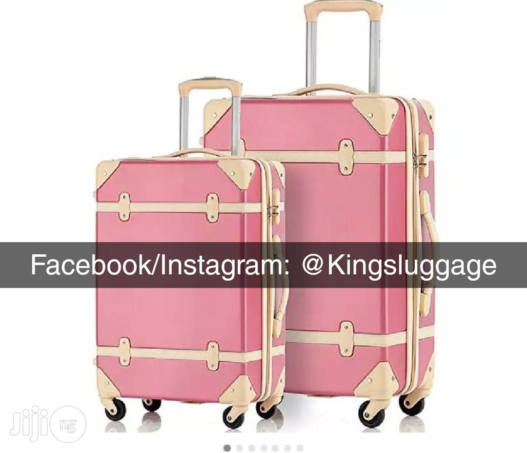 Trunk Box Luggage - Pink