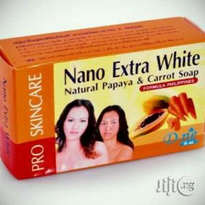 Nano Extra White Natural Papaya Carrot Soap   Bath & Body for sale in Lagos State