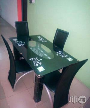 Imported Glass Dining Table 4 Seater