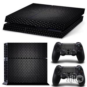 Playstation 4 Skin Decal Sticker Black + 2 Controller Design Set | Accessories & Supplies for Electronics for sale in Lagos State, Ikeja