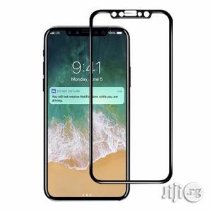 3D Tempered Glass Screen Protector for iPhone X - Black   Accessories for Mobile Phones & Tablets for sale in Lagos State
