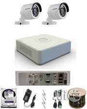 2 Outdoor Bullet Hikvision + 4ch AHD HD-TVI 1U Turbo | Security & Surveillance for sale in Lagos State, Ikeja