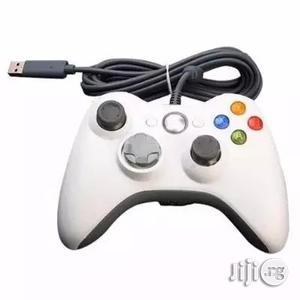 Xbox 360 Wired Controller - White | Accessories & Supplies for Electronics for sale in Lagos State, Ikeja
