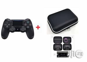 Ps4 Dualshock4 Controller - Black + Airform Pouch   Accessories & Supplies for Electronics for sale in Lagos State, Ikeja