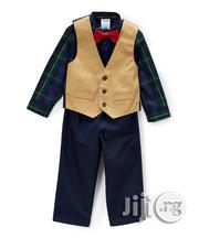Mustard Twill Vest 4pc Set   Children's Clothing for sale in Lagos State