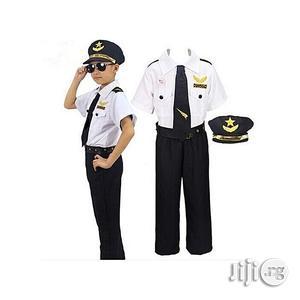 Universal Children Pilot Costume Set White Black(3-7years)   Children's Clothing for sale in Lagos State, Amuwo-Odofin