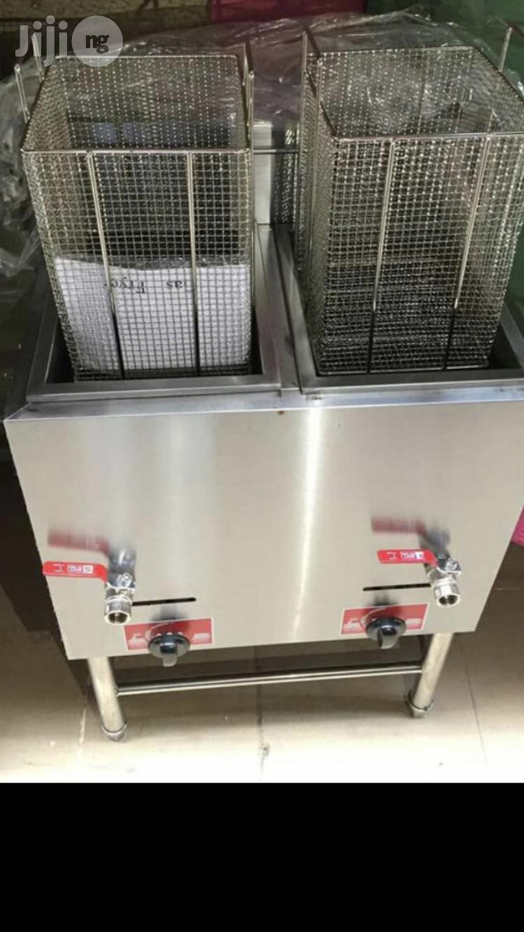 Gas Deep Fryer Standing Double 40liiters