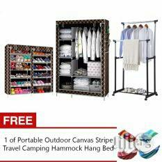 Compartment Shoe Rack, Quality Wardrobe and Double Pole Hanger
