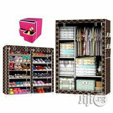 Double Row Shoe Rack And Quality Wardrobe