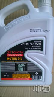 Toyota Genuine Motor Oil 5W30 Fully Synthetic | Vehicle Parts & Accessories for sale in Rivers State, Port-Harcourt