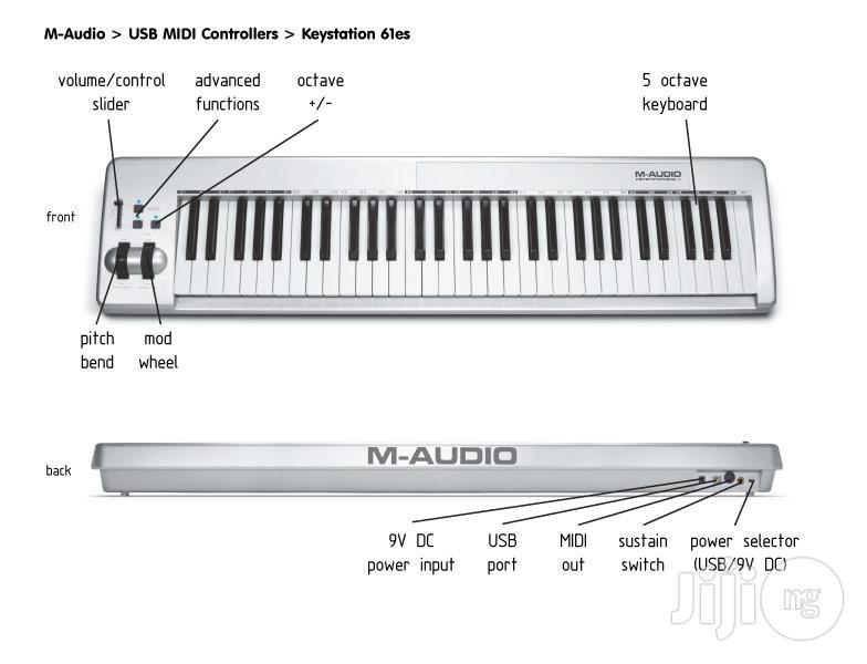 M-Audio Midi Controller Keystation 61ES (61 Key USB)