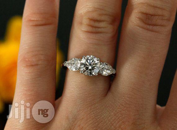 U.S Slendid Diamond Sterling Silver Engagement Ring - Silver | Wedding Wear & Accessories for sale in Ojodu, Lagos State, Nigeria