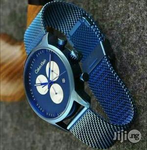 Calvin Klein (CK) Chronograph Blue Net Chain Watch   Watches for sale in Lagos State, Lagos Island (Eko)