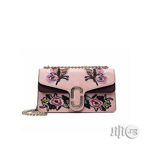 Women Luxury Chain Embroidery Handbag Pink Hand Bag | Bags for sale in Abuja (FCT) State