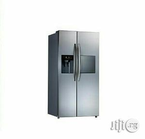 Midea Side-by-side Fridge With Ice Maker -HC -689WEN -silver | Kitchen Appliances for sale in Lagos State, Agege
