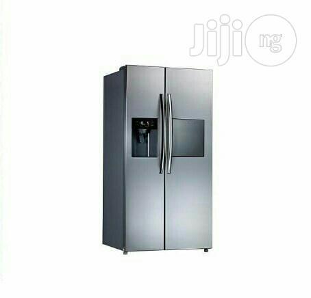 Midea Side-by-side Fridge With Ice Maker -HC -689WEN -silver