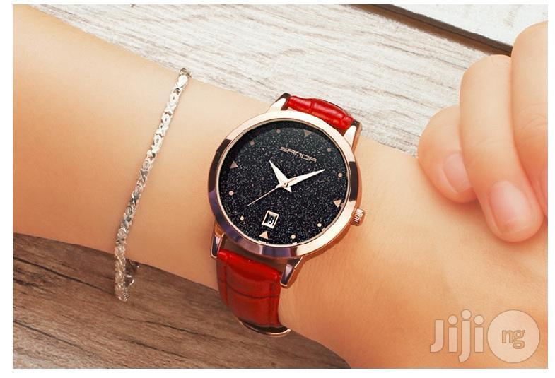 Sanda Pure Leather Quality Ladies Wrist Watch
