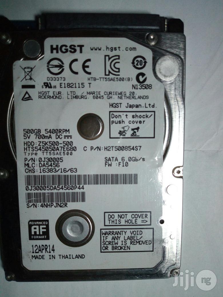 Laptop Storage Hard Disk/Drive (500gb)