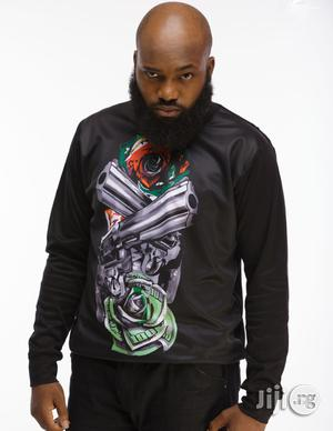 ADOT Long Sleeve Print T-Shirt - Black   Clothing for sale in Lagos State, Shomolu