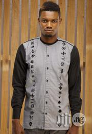 ADOT Men's Long Sleeve Casual Shirt - Grey Black | Clothing for sale in Lagos State, Shomolu