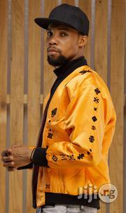 ADOT Bomber Jacket - Orange Black | Clothing for sale in Lagos State, Shomolu