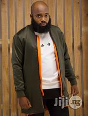 ADOT Bomber Jacket - Green Orange | Clothing for sale in Lagos State, Shomolu